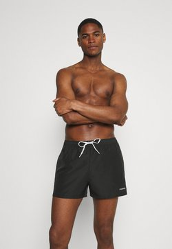 Calvin Klein Swimwear - LOGO TIES RUNNER PACKABLE - Bañador - black