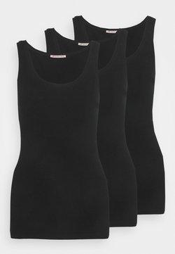 Anna Field - 3 PACK - Débardeur - black/black/black