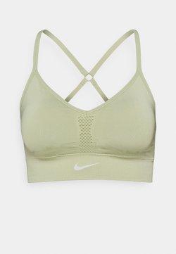 Nike Performance - INDY SEAMLESS BRA - Urheiluliivit: kevyt tuki - celadon/white