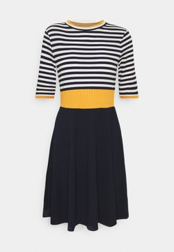 edc by Esprit - STRIPE DRESS - Strickkleid - yellow