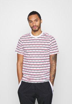 Nike Sportswear - T-Shirt print - white/university red/obsidian