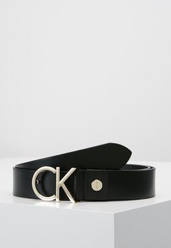 Calvin Klein - LOGO BELT - Ceinture - black/light gold-coloured