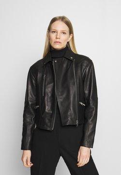 Marc O'Polo - JACKET BIKER STYLE - Leren jas - black