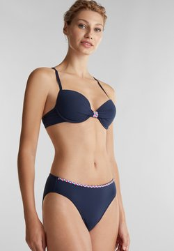 Esprit - MIT FLECHT-DETAILS - Push-up BH - navy