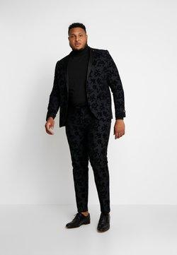 Twisted Tailor - KATRIN FLORAL FLOCK SUITPLUS - Puku - charcoal
