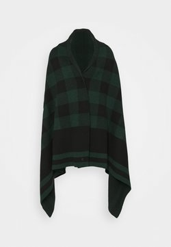 Belstaff - BLANKET CHECK - Cape - black/pine
