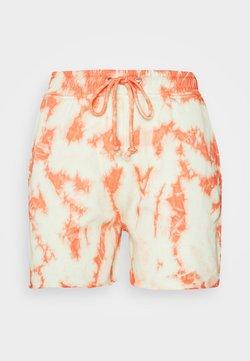 Missguided - TIE DYE ELASTICATED WAIST RUNNER SHORTS - Shorts - orange