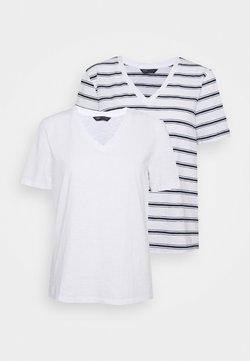 Marks & Spencer London - SLUB 2 PACK - T-Shirt print - white