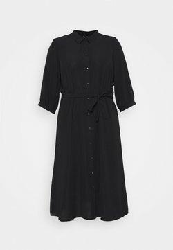 Vero Moda Curve - VMCARA CALF SHIRT DRESS - Freizeitkleid - black