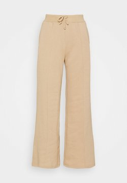 Even&Odd - WIDE LEG JOGGERS WITH PINTUCK - Jogginghose - beige
