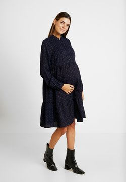 MAMALICIOUS - MLXINIA WOVEN SHIRT DRESS - Blusenkleid - navy