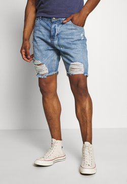 Good For Nothing - RIPPED SHORTS - Jeansshort - blue