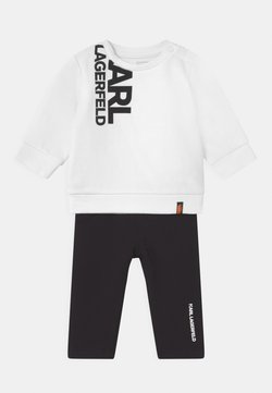 KARL LAGERFELD - BABY SET UNISEX - Trainingsanzug - black/white