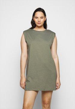 Pieces Curve - PCLIZ DRESS - Jerseykleid - deep lichen green