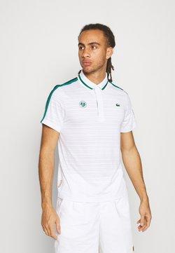 Lacoste Sport - TENNIS  - Polo - white/bottle green/navy blue