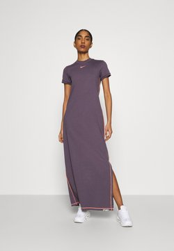 Nike Sportswear - DRESS - Vestido largo - dark raisin/bright mango