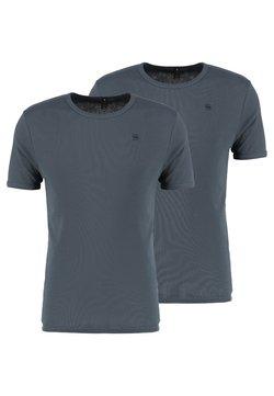 G-Star - BASE 2 PACK  - Basic T-shirt - dark slate