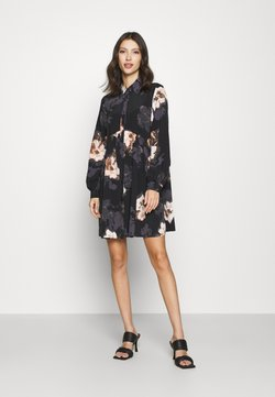 River Island - LISA SMOCK SHIRT DRESS  - Blusenkleid - black