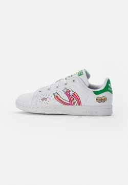 adidas Originals - STAN SMITH - Sneakers laag - white/white/vivid green