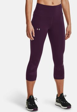 Under Armour - RUSH TONAL CAPRI - Tights - polaris purple