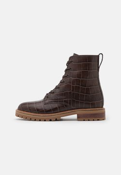 Madewell - CLAIR LACE UP BOOT  - Schnürstiefelette - dark coffee