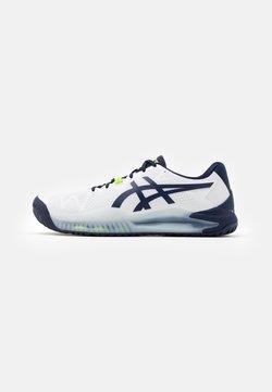 ASICS - GEL RESOLUTION 8 - Scarpe da tennis per tutte le superfici - white/peacoat