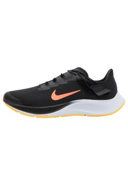 Nike Performance - AIR ZOOM PEGASUS 37 FLYEASE - Neutrala löparskor - black/bright mango/anthracite/white/citron pulse