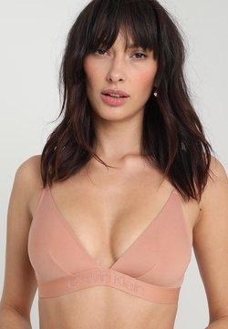 Calvin Klein Underwear - UNLINED - Biustonosz z trójkątną miseczką - beige