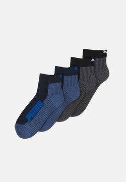 Puma - CUSHIONED QUARTER 4 PACK UNISEX - Sportsocken - black/blue