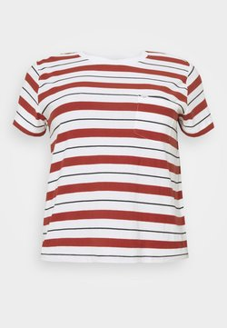 Lee Plus - RELAXED POCKET TEE - T-Shirt print - red ochre