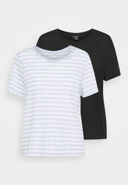 Monki - SIMBA TEE 2 PACK - T-Shirt print - light blue