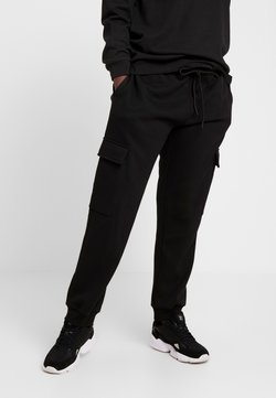 Urban Classics - LADIES CARGO PANTS - Jogginghose - black