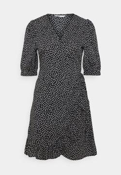 ONLY - ONLSWEETHEART WRAP FRILL DRESS - Korte jurk - black