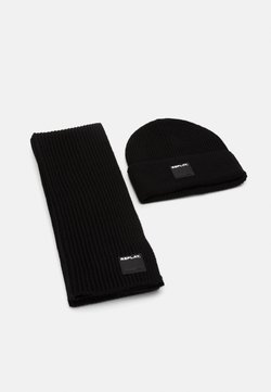Replay - HAT SCARF SET - Schal - black