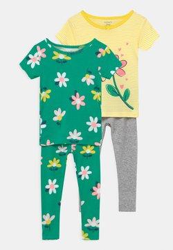 Carter's - FLOWER 2 PACK - Pijama - green/yellow
