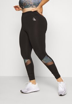 Active by Zizzi - APALM 7/8 - Tights - black