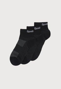 Reebok - 3 PACK UNISEX - Skarpety sportowe - black