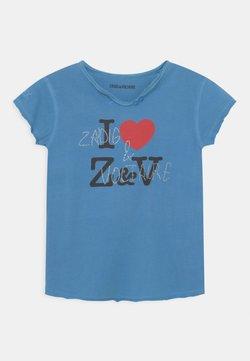 Zadig & Voltaire - SHORT SLEEVES  - T-shirt med print - bleu marin