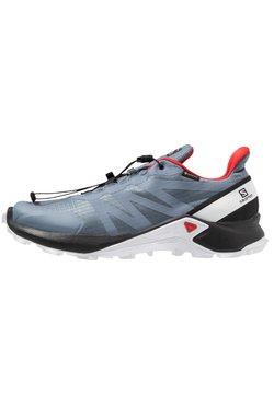 Salomon - SUPERCROSS GTX - Zapatillas de trail running - flint stone/black/high risk red