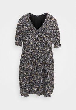 Madewell - RUFFLE NECK EASY DRESS  - Freizeitkleid - multi-coloured