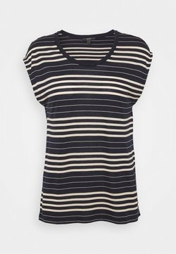 Esprit Collection - STRIPE TEE - T-Shirt print - navy