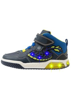 Geox - INEK BOY - Sneakers hoog - navy/lime