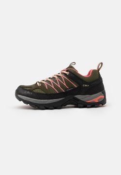 CMP - RIGEL LOW TREKKING SHOE WP - Hiking shoes - kaki/flamingo