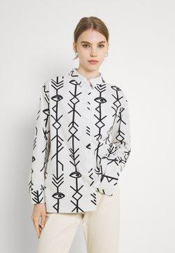 NU-IN - EMBLEM LONG SLEEVE SHIRT - Skjorta - off-white