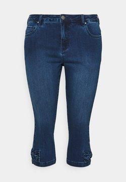 Zizzi - JCATHERINE BOW KNICKERS - Denim shorts - dark blue denim