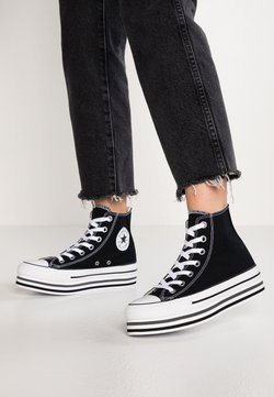 Converse - CHUCK TAYLOR ALL STAR PLATFORM - Sneaker high - black