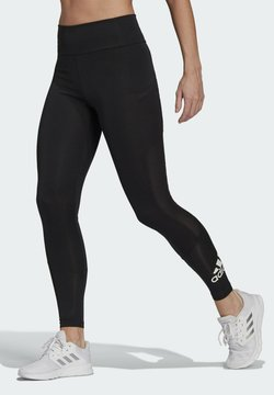 adidas Performance - DESIGNED TO MOVE BIG LOGO SPORT LEGGINGS - Tights - black