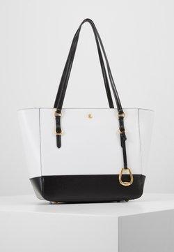 Lauren Ralph Lauren - SAFFIANO - Handtasche - optic white/black