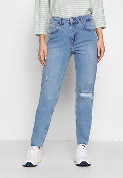 Noisy May - NMJENNA NW ANKLE JEANS KI028MB - Straight leg jeans - medium blue denim