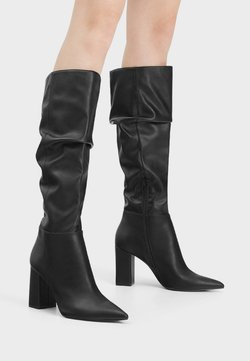 Bershka - High Heel Stiefel - black
